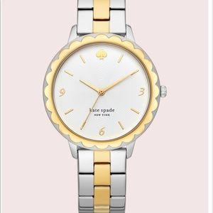 Kate Spade ♠️ morningside scallop two tone watch